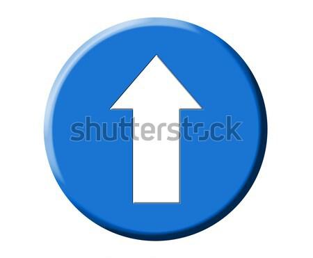 Europejski niebieski drogowego arrow sygnał ilustracja Zdjęcia stock © lunamarina