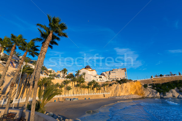 Benidorm Alicante playa del Mal Pas beach at sunset in Spain Stock photo © lunamarina