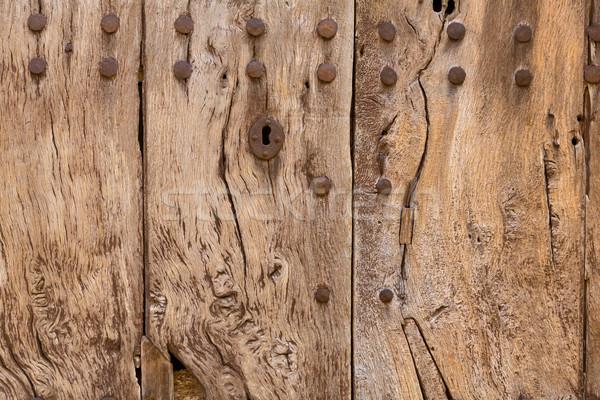 Majorca aged wooden door texture Mallorca Stock photo © lunamarina