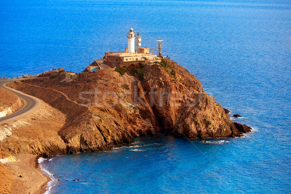 Almeria Cabo de Gata lighthouse Mediterranean Spain Stock photo © lunamarina