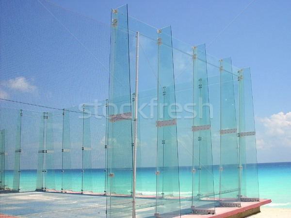Paddle sport glass field fron Caribbean sea Stock photo © lunamarina