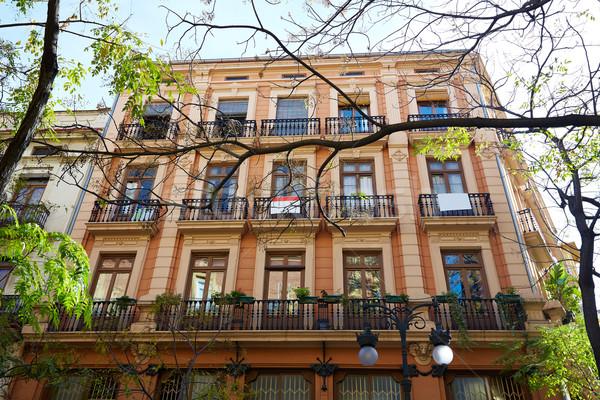 Valencia belváros tér Spanyolország utca művészet Stock fotó © lunamarina