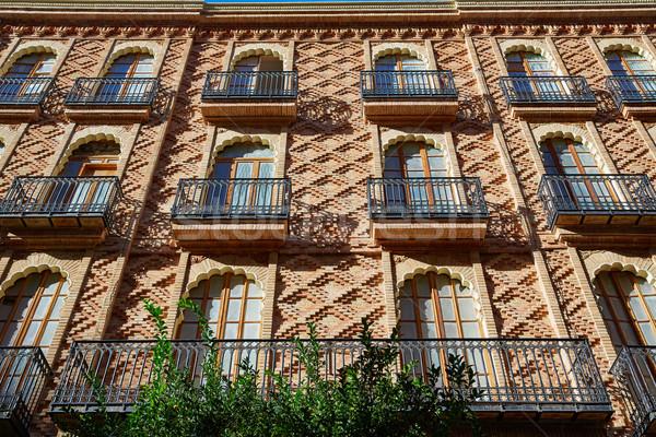 Valencia város belváros Spanyolország művészet Európa Stock fotó © lunamarina