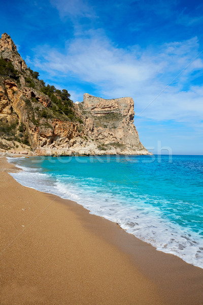 Cala del Moraig beach in Benitatxell of Alicante Stock photo © lunamarina