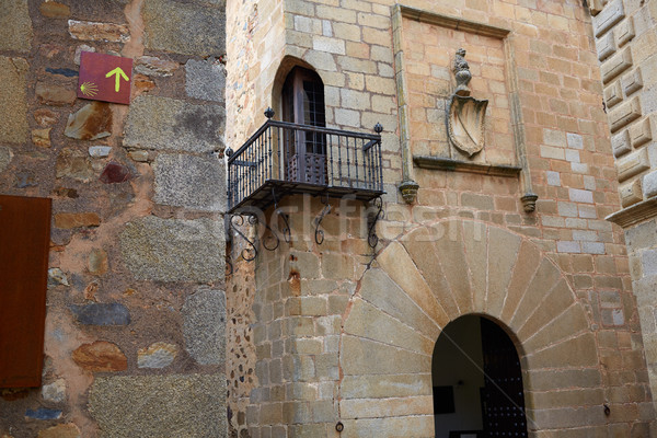 Carvajal Tower in Caceres at Extremadura Stock photo © lunamarina