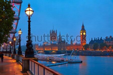 Big Ben Londres cartões postais relógio torre Foto stock © lunamarina