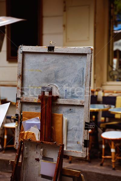 Montmartre painters place du Tertre canvas Stock photo © lunamarina