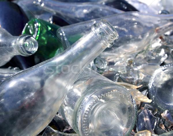 bottle glass recycle mound pattern Stock photo © lunamarina