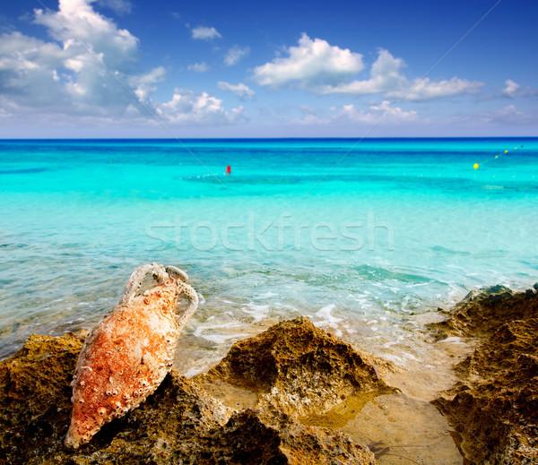 Amphora roman with marine fouling in Mediterranean Stock photo © lunamarina