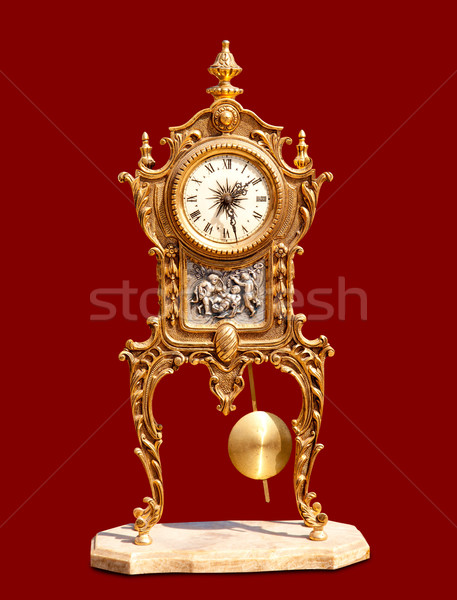 ancient vintage brass pendulum clock Stock photo © lunamarina