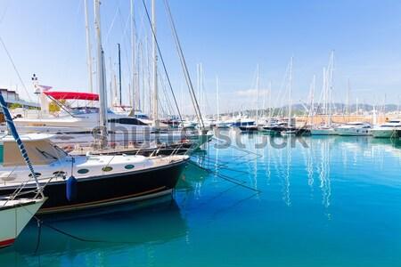 Gran canaria Puerto de Mogan marina boats Stock photo © lunamarina