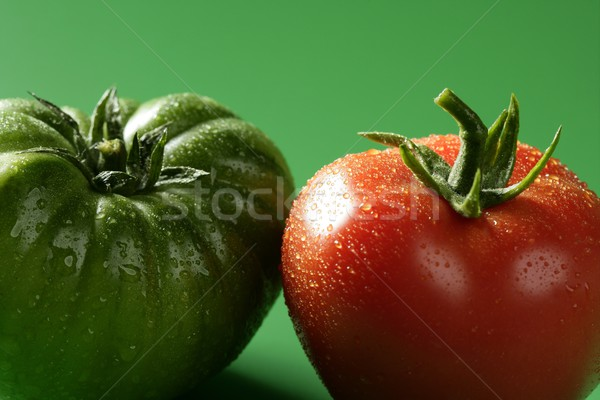Two color tomatoes, green and red variety Stock photo © lunamarina