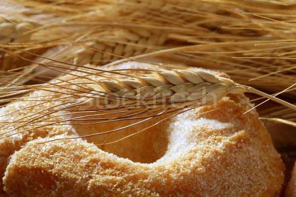 Finom zsemle pékség cukor búza fül Stock fotó © lunamarina