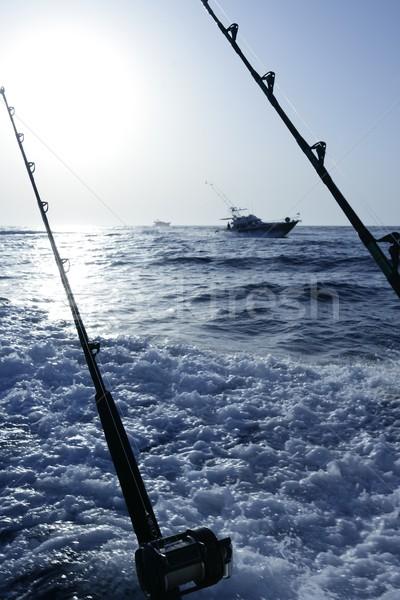 синий Средиземное море стержень воды пейзаж Сток-фото © lunamarina