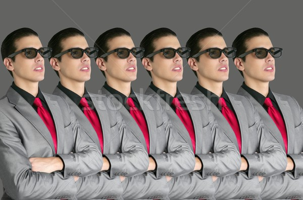 Cinema in new 3D glasses with boy spectator Stock photo © lunamarina
