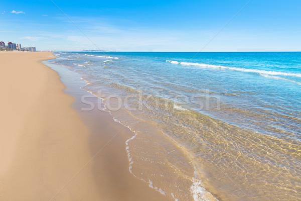 Strand Valencia middellandse zee Spanje wal natuur Stockfoto © lunamarina