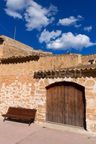 Barrio antiguo mallorca isla España primavera edificio Foto stock © lunamarina
