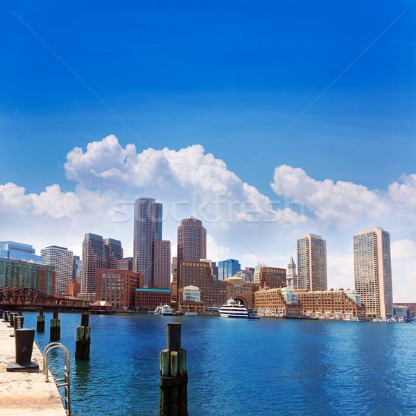 Boston Massachusetts skyline from Fan Pier Stock photo © lunamarina