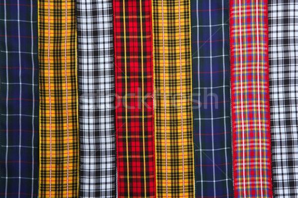 Scottish tartan fabric tapes pattern background Stock photo © lunamarina