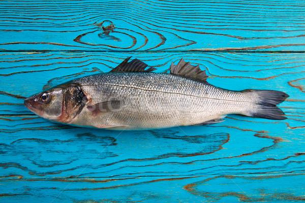 Fresco peixe água madeira tabela Foto stock © lunamarina