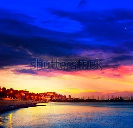 Pôr do sol mediterrânico Espanha praia sol natureza Foto stock © lunamarina