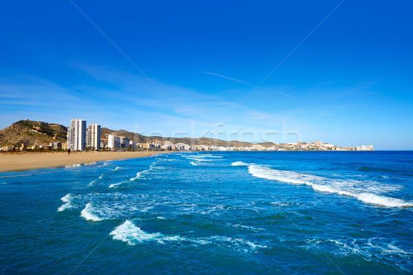 Cullera Sant Antoni beach San Antonio in Valencia Stock photo © lunamarina