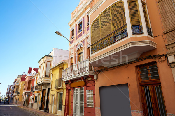 Cullera village streets in Mediterranean Valencia Stock photo © lunamarina