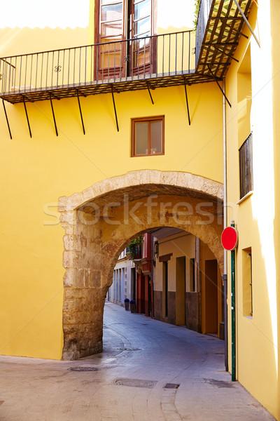 Valencia portal arco edificio arte vacaciones Foto stock © lunamarina
