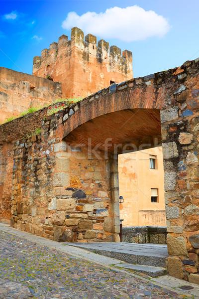 Caceres Plaza Pinuelas in Extremadura Spain Stock photo © lunamarina
