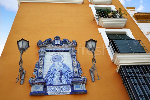 Triana barrio of Seville facades Andalusia Spain Stock photo © lunamarina