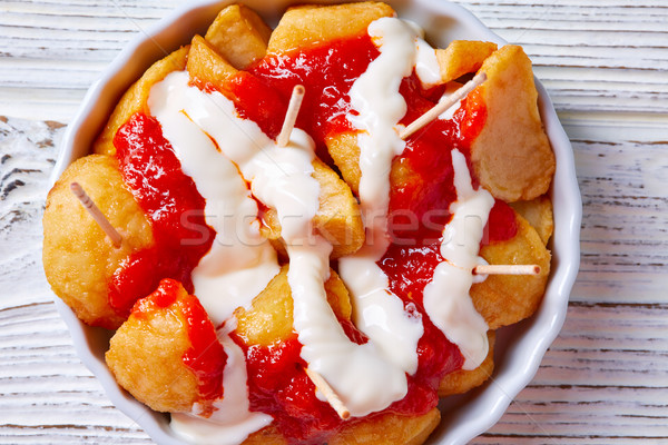 Bravas potatoes pinchos tapas from Spain Stock photo © lunamarina