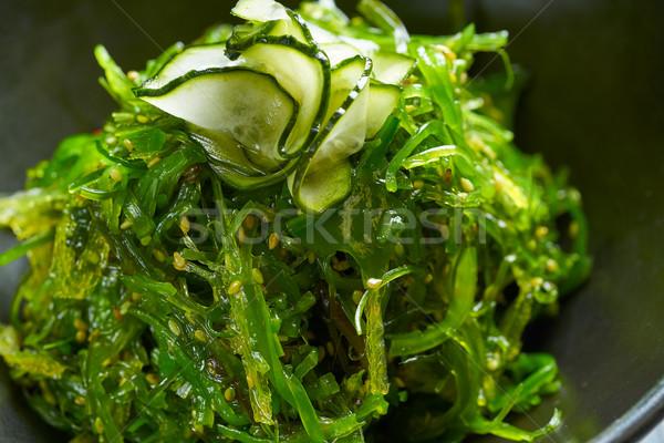 Salade komkommer sesam macro detail Stockfoto © lunamarina