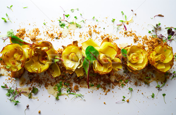 Artichoke roses with truffle and vinaigrette Stock photo © lunamarina