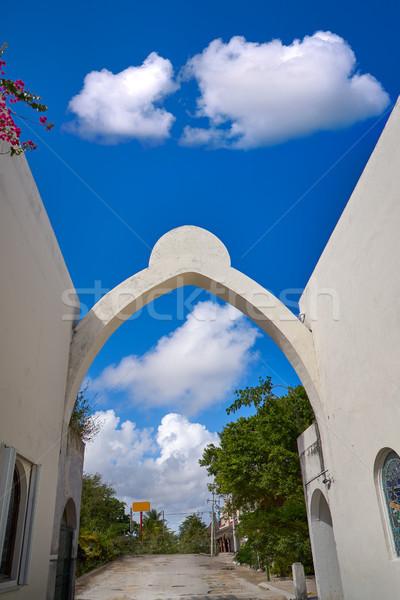 Akumal bay entrance arch in Riviera Maya Stock photo © lunamarina