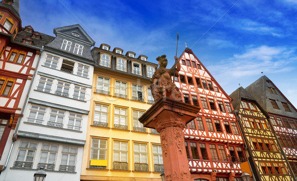 Frankfurt Romerberg square Old city Germany Stock photo © lunamarina