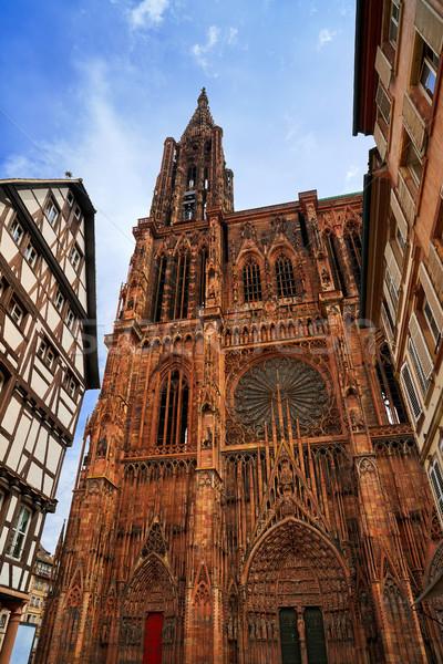 Cathédrale Notre-Dame France bâtiment ville monde bleu Photo stock © lunamarina