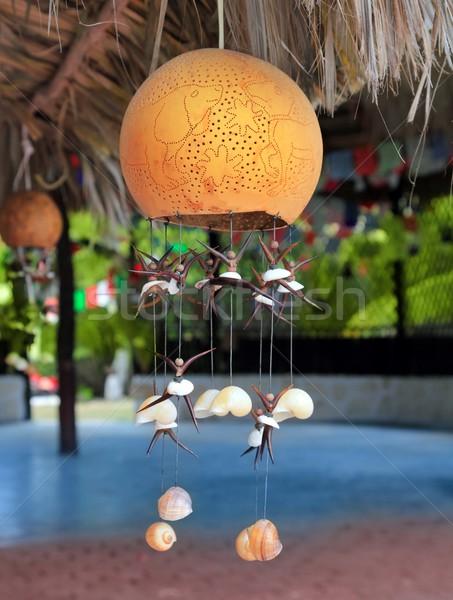 handcraft lamp with seashells traditional Mexico Stock photo © lunamarina