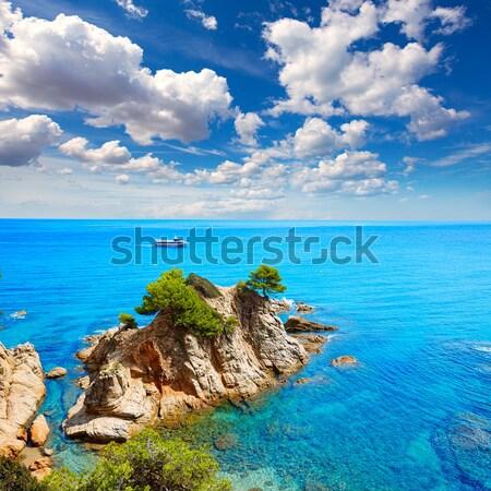 Alcudia Mallorca Playa de S Illot transparent turquoise water Stock photo © lunamarina