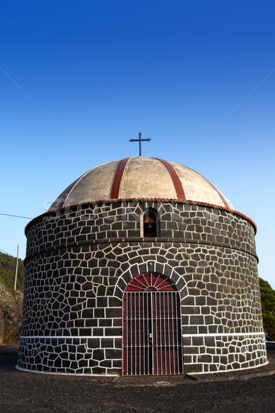Ermita santa Cecilia church in La Palma Stock photo © lunamarina