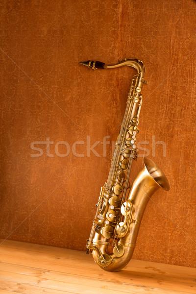 Sax golden tenor saxophone vintage retro Stock photo © lunamarina