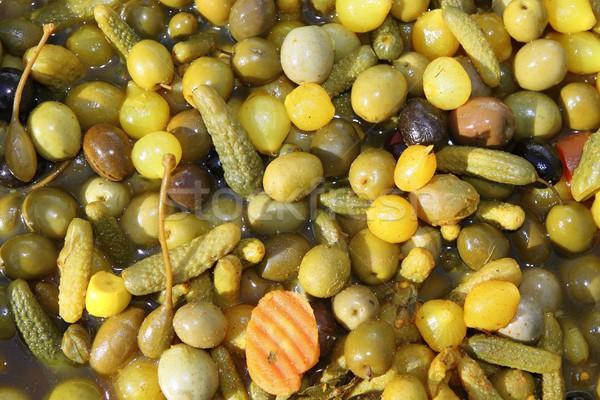 olives varied colorful texture on market Stock photo © lunamarina