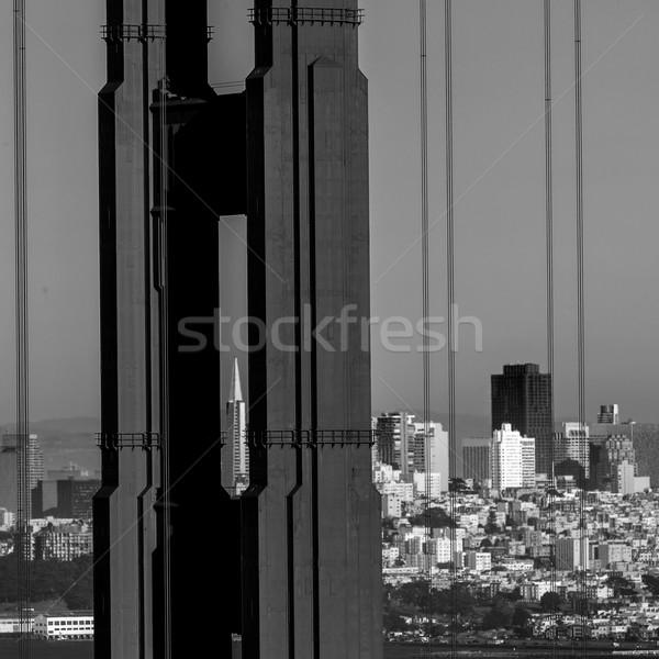 San Francisco Golden Gate Bridge cabos Califórnia ver EUA Foto stock © lunamarina