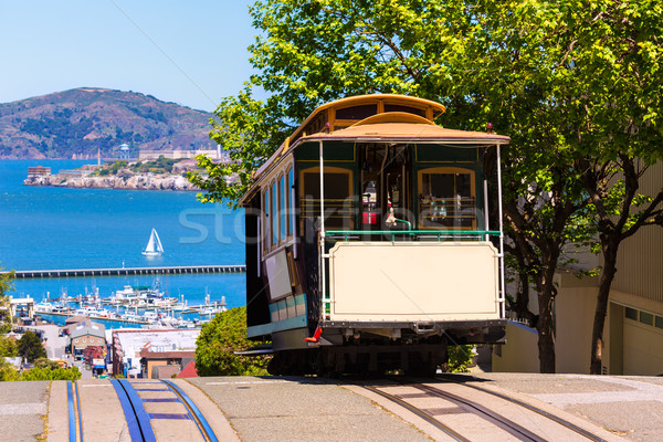San francisco Hyde Street Cable Car California Stock photo © lunamarina