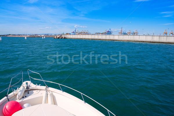 Valencia stad jachthaven haven water reizen Stockfoto © lunamarina