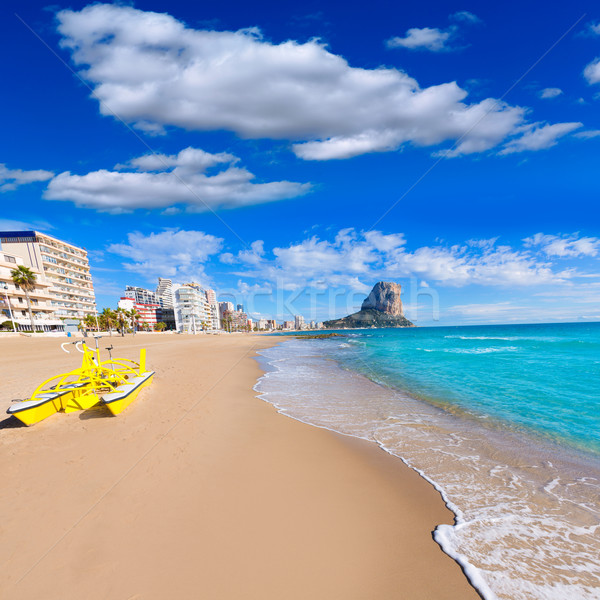 Calpe playa Arenal Bol beach near Penon Ifach Alicante Stock photo © lunamarina