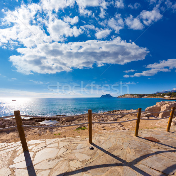 Moraira in Mediterranean Alicante at Spain Stock photo © lunamarina