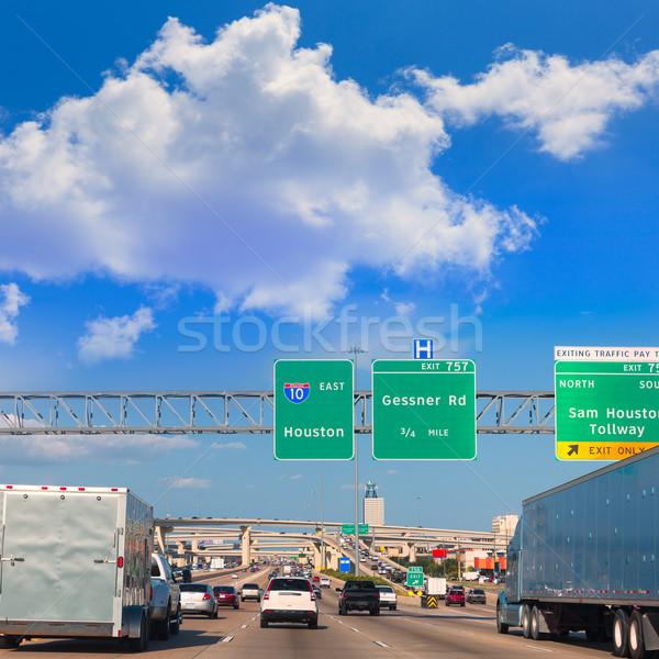 Houston autopista Texas EUA tráfico 10 Foto stock © lunamarina