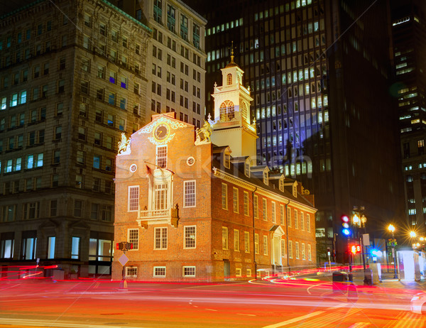 Boston eski ev Massachusetts ABD binalar Stok fotoğraf © lunamarina