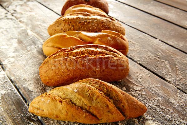 деревенский древесины мучной пшеницы Сток-фото © lunamarina
