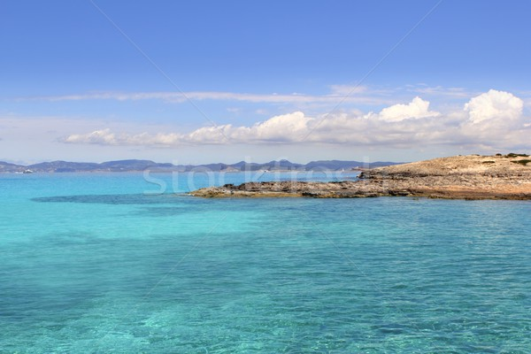Illetas Formentera sea ibiza horizon Balearic Stock photo © lunamarina